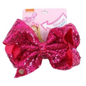 Jojo Siwa Oversized Hot Pink Sequined Hair Bow